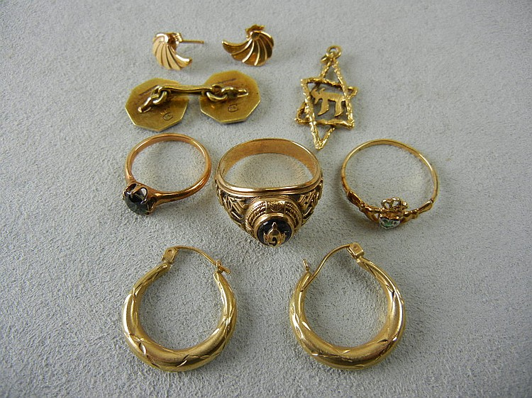 Gold Jewelry Lot (8.6g of 14k and 8.1g of 10K)