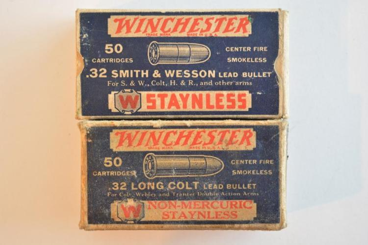 Pair of Winchester .32 Vintage Ammo Boxes