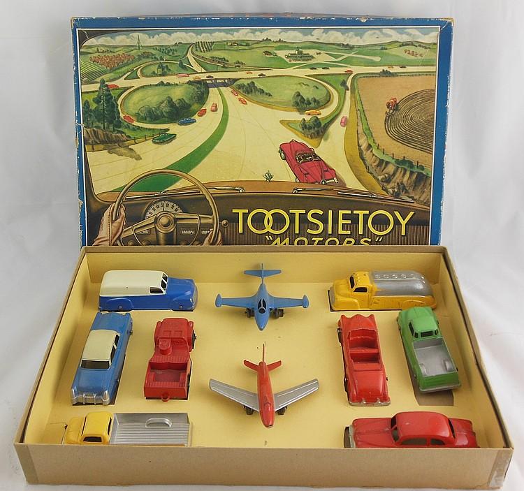 """Tootsie Toy """"Motors"""" Set, MIB"""