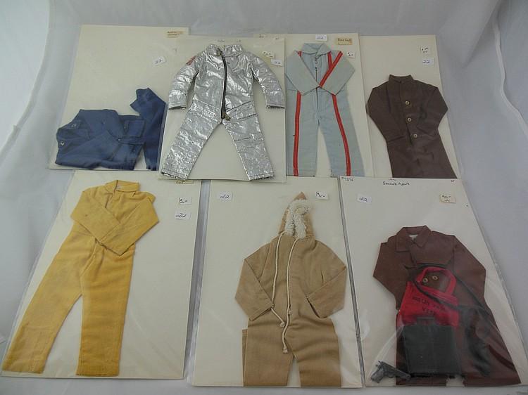 7- Various 1960's GI Joe Uniforms