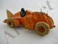 Hubley Orange Cast Iron Racer