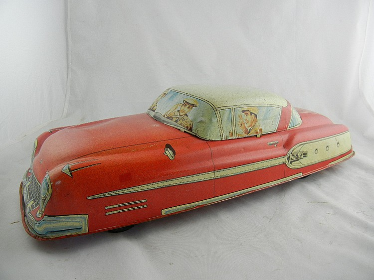 Marx Tin Litho Red Coupe
