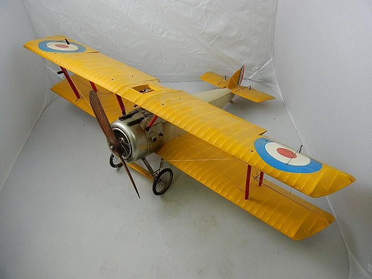 Vintage Military Gas Powered Bi-Plane