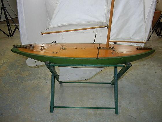 Antique Detroit News Wooden Sailboat