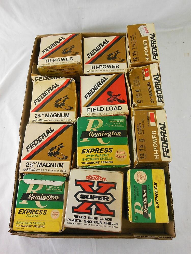 Box Lot of Ammuntiion (12 and 20 Gauge)