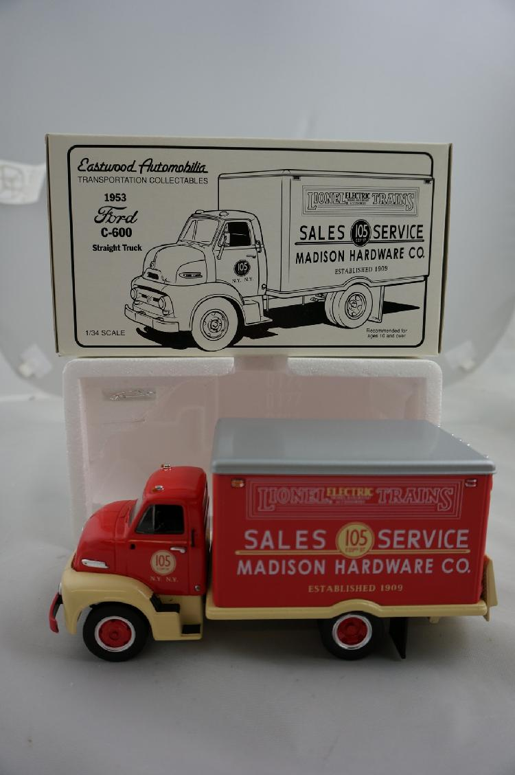 Lot 268 1994 First Gear Eastwood Automobilia Die Cast 1953 Lionel Trains Ford C 600 Straight Truck 134 Scale MIB 19 1396