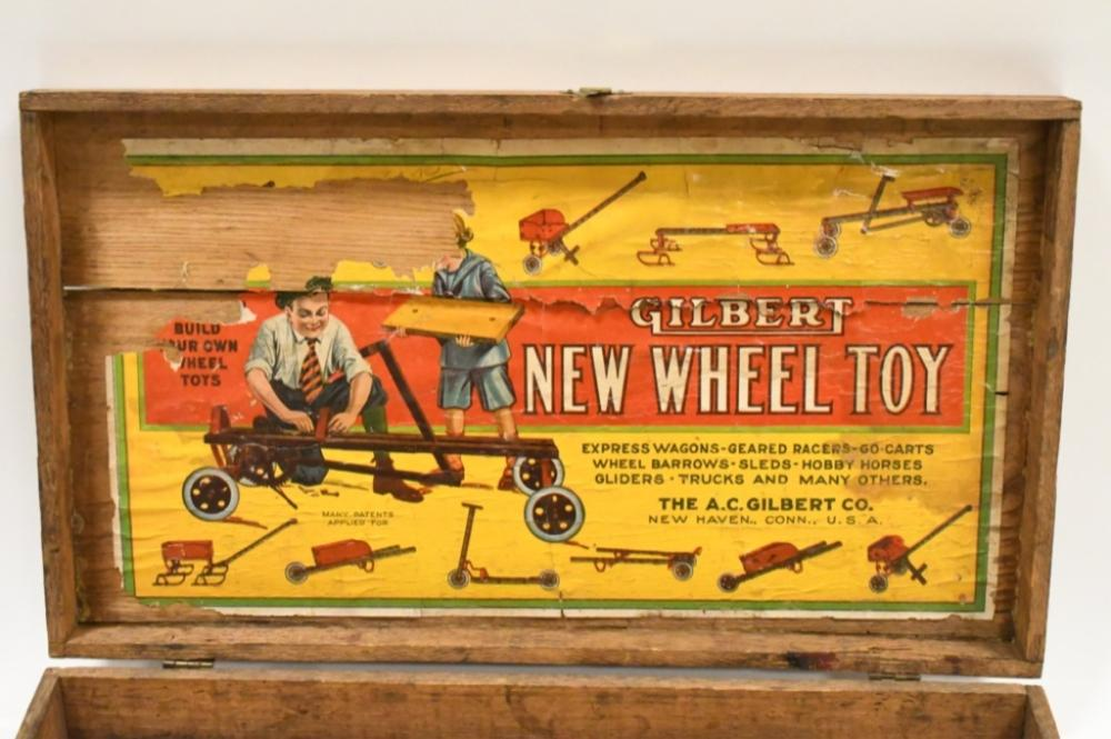 Vintage Gilbert New Wheel Toy Erector Set In Box
