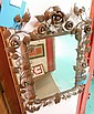 Uruguay wrought iron floral mirror