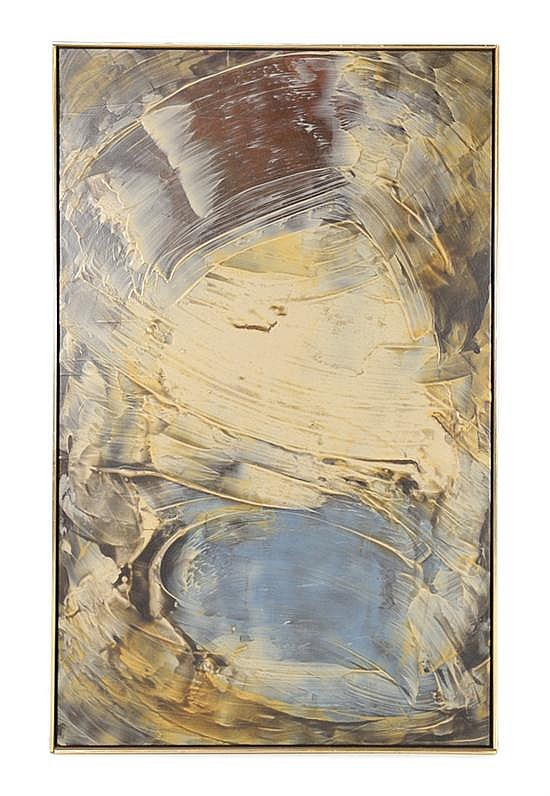 DAN CHRISTENSEN, (American, 1942 -2007), Corinth, 1975, Acrylic on canvas, Inscribed verso