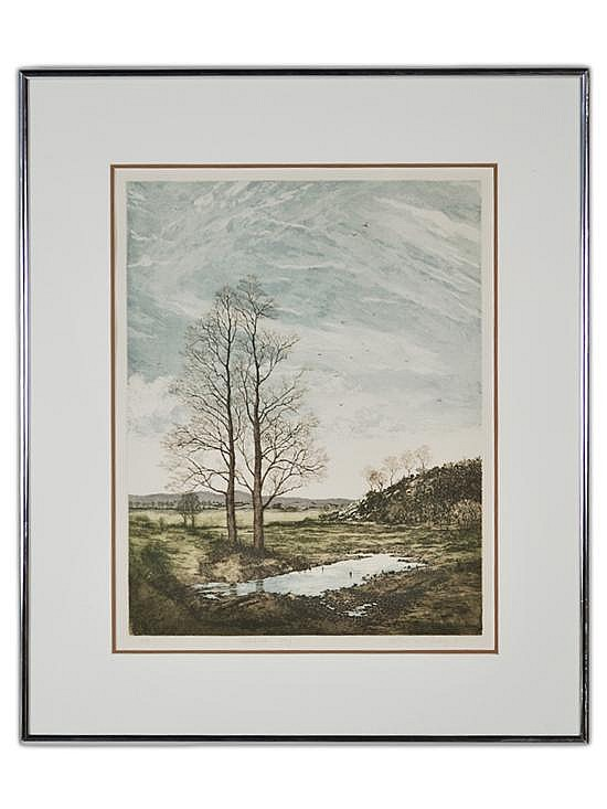 JOHN MCNULTY, (Irish, 1949- ), Western Sky, 1981, AP, 21 1/2 x 17 x 1 inches