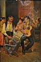 JOSÉ GARCÍA RAMOS, (Spain, 1852-1912), Bohemia, Oil on panel, 13 x 9 3/4 inches (33 x 24.8 cm), José García