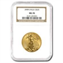 2008 1/2 oz Gold American Eagle MS-70 NGC
