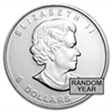 1 oz Silver Canadian Maple Leaf - Random Year