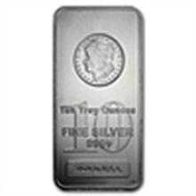 10 oz Morgan Design Silver Bar .999 Fine
