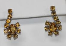 10.75 CTW CITRINE EARRING .925 STERLING SILVER