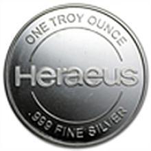 1 oz Heraeus Silver Round .999 Fine
