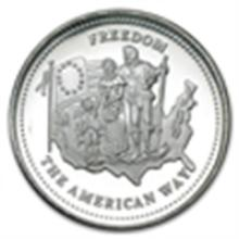 1 oz Johnson Matthey Silver Round (Freedom - The Americ