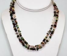 300.01 CTW Multi Semi Precious Stone Necklace