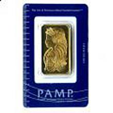 Gold Bars: Pamp Suisse One Ounce Gold Bar