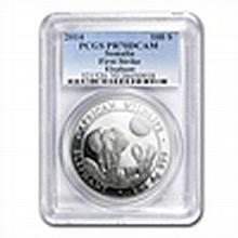2014 1 oz Silver Somalian Elephant PCGS PR-70 DCAM Firs