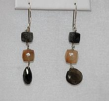 Natural 27.95 ctw Semi Precious Earring .925 Sterling S
