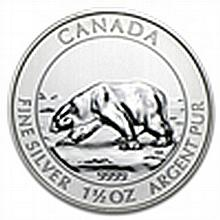 1.5 oz Silver Canadian $8 Polar Bear (date of our choic