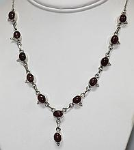 18.68 CTW RUBY NECKLACE .925 STERLING SILVER