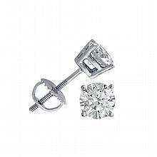 1.50 ctw Round cut Diamond Stud Earrings G-H, VVS