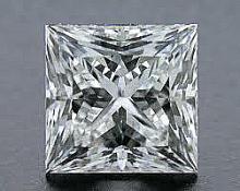 EGL CERT 0.53 CTW PRINCESS CUT DIAMOND D/SI1