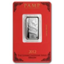 10 gram Pamp Suisse Silver Bar - Year of the Dragon (In