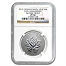 2013 1/2 oz Silver Canadian $4 Maple Leaf 25th Anniv. P