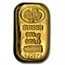 100 gram Pamp Suisse Gold Bar .9999 Fine - W/Assay (Cas