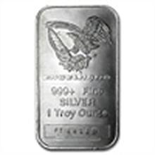 1 oz Engelhard Silver Bar (Tall, Eagle / Logo)
