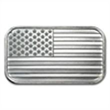 1 oz American Flag Design Silver Bar .999 Fine