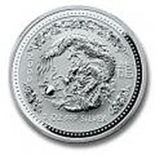 2000 Australian Lunar Silver 2 oz Silver Dragon