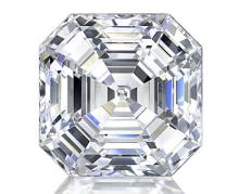 GIA CERT 0.32 CTW EMERALD CUT DIAMOND E/VS2