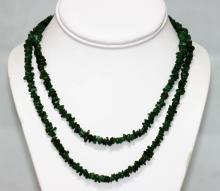 175.01 CTW Natural Uncut Emerald Beads Necklace