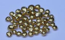 65 GRAMS PURE 24K GOLD SHOTS