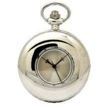 Collectable Modern Style Silvertone Pocket Watch
