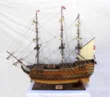 HAND MADE WOODEN HMS Victory Xl W/COA