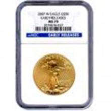 Certified American $50 Gold Eagle 2007-W MS70 Early Rel