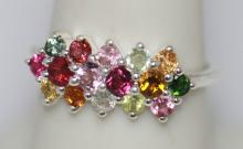 1.41 CTW SEMIPRECIOUS RING .925 STERLING SILVER