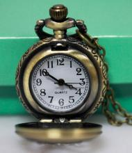Vintage Style coca cola flip pocket Fob watch, necklace