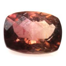 Natural 2.14ctw Bi-Color Tourmaline Cushion Stone
