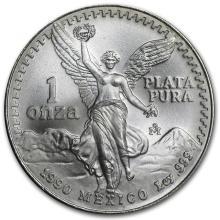 1990 1 oz Silver Mexican Libertad (Brilliant Uncirculated)