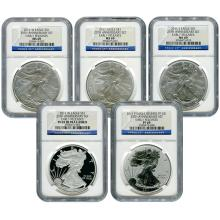 Certified American Eagle 25th Anniversary 5pc Silver S