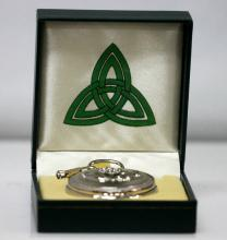 Collectors Edition Silver Tone Claddagh Trinity Pocket
