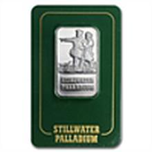 1 oz Johnson Matthey Palladium Lewis & Clark Bars (Proo