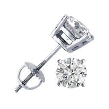 1.75 ctw Round cut Diamond Stud Earrings G-H, SI-I