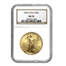 2004 1 oz Gold American Eagle MS-70 NGC